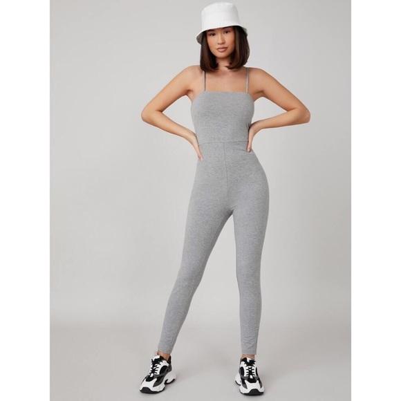 SHEIN Solid Cami Unitard Jumpsuit